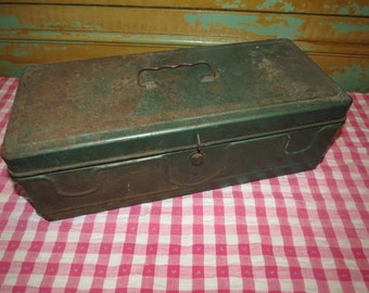 Vintage Metal Tackle Toolbox.