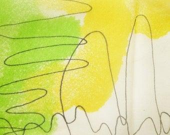 1960's Abstract VERA designer crepe silk scarf