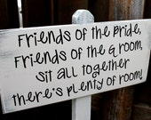 """No Seating Plan / Pick a seat not a side - Wedding Sign Stand - 10"""" x 22"""" on 4ft Stand"""