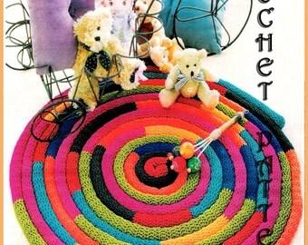 Crochet Pattern rug for patio, bathroom, kidsroom or home. Pdf files