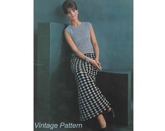 Crochet Pattern - Crochet Evening Skirt and Shell PDF Pattern - 756-23 - Instant Download