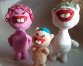 A ugly cute wool felted family ...