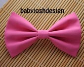 Hot Pink Fabric Hair bow for teens or women,girls hair bows,basic hair bows , Hair Bows