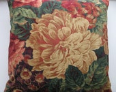 GOLD  FLOWER Pillow Cover,  Designer Fabric Big Flower Design (18x18 inches)