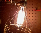 Vintage Machine Age Industrial Trouble Lamp, Work Light with Clamp
