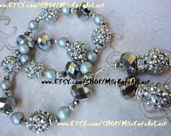 CLEARANCE Stackable Bangle Bracelet Duo, Drop Dangle Earring Set - ICY ELEGANCE