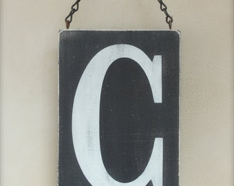 Letter Sign, Wood Wall Art, Custom Wood Sign, Vintage Sign, Typography