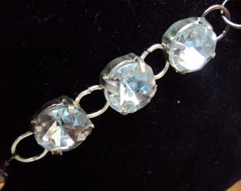 OOAK recycled fake diamond necklace