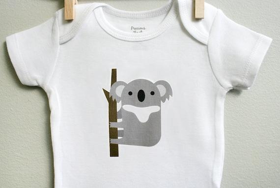 koala baby clothes koala baby bodysuit by squarepaisleydesign
