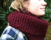 Double-Wrap Long Knit Simple Chunky Cowl Thick Warm Autumn Winter Layers