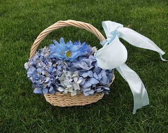 Hydrangea Basket       Flower Girl Basket    Hydrangea Arrangement  Wedding    Flower Girl  Easter Basket