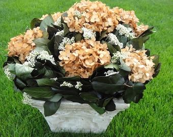 Preserved Hydrangeas   Floral Arrangemen  t  Hydrangea  Arrangement  Salal Floral Arrangement  ON SALE