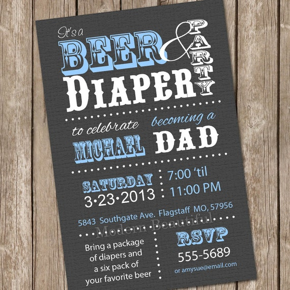 Beer And Diaper Baby Shower