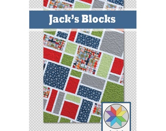 Jack's Blocks - a PDF Quilt Pattern (Crib, Throw, Twin & Queen)