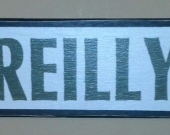 Personalized Surname European Street Sign