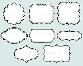 Printable labels clip art images, scrapbook clip art, royalty-free, layered in PSD - ca109- Instant Download
