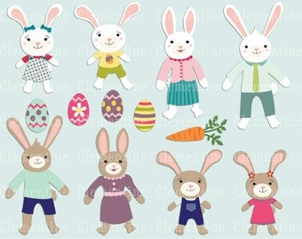 Easter clip art images, Bunny clip art, Easter vector, royalty free clip art- Instant Download