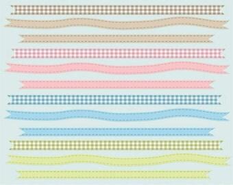 Ribbon clip art images, ribbon clipart,  royalty free clip art- Instant Download