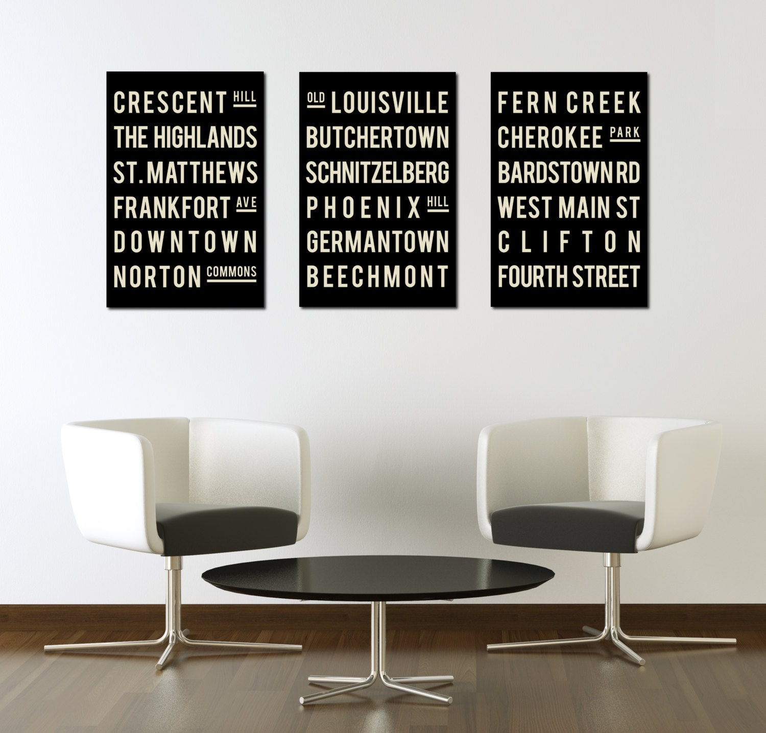 living room posters.  zoom LOUISVILLE Poster Subway Sign Typography Print Living Room