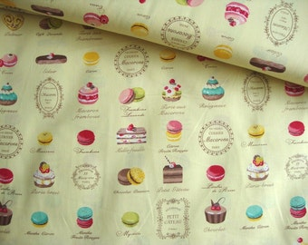 Japanese Cotton Fabric Yuwa - Patisserie Yellow - a yard