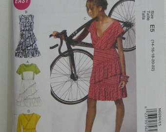 Dress Pattern, Spring/Summer Dress, Mc Call's 6694, SZ 14 through 22
