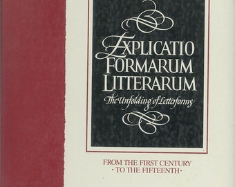 Book on the History of Letter Forms, Explicatio Formarum Litterarum