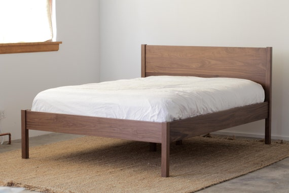 solid walnut berkeley bed frame and headboard available in other woods