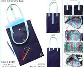 "FINAL SALE 60%!!! Vegan Leather Tote Bag ""The Artist's bag"""