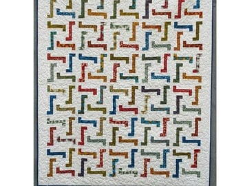 Jiggles Quilt Pattern designed by Little Louise Designs
