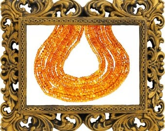 "14"" line 2.5mm AAA deep MADEIRA CITRINE Beads"