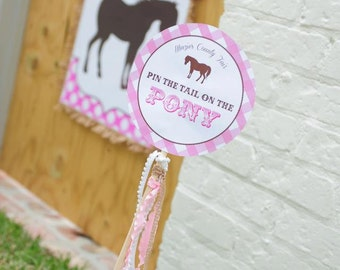 DIY, Pin the Tail on the Pony INSTANT DOWNLOAD