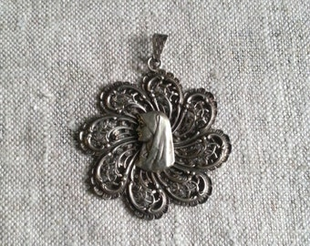 Vintage Virgin Mary pendant