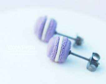 Macaroon earrings  (hypoallergenic surgical steel)