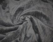 80/20 CVC Cotton Velour  - Gunsmoke Gray