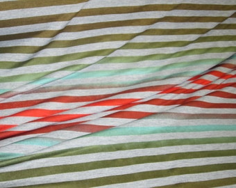Patina Gradation Multi STripe Knit FAbric .