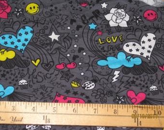 Celebrate Love and Sunshine Cotton Lycra Knit FAbric