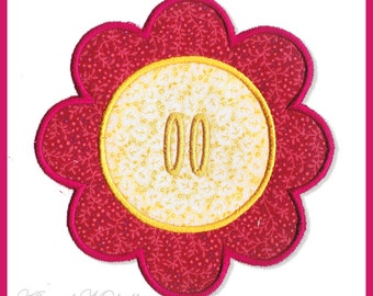 Flower Banner Add On, 3 Sizes - Machine Embroidery