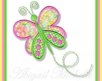 Dainty Butterfly Applique, 3 Sizes - Machine Embroidery