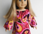 18 inch Doll Clothes fits American Girl - Paisley Print Corduroy Dress