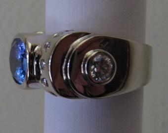 Size 7 LeVian Huge Tanzanite & Diamond Ring