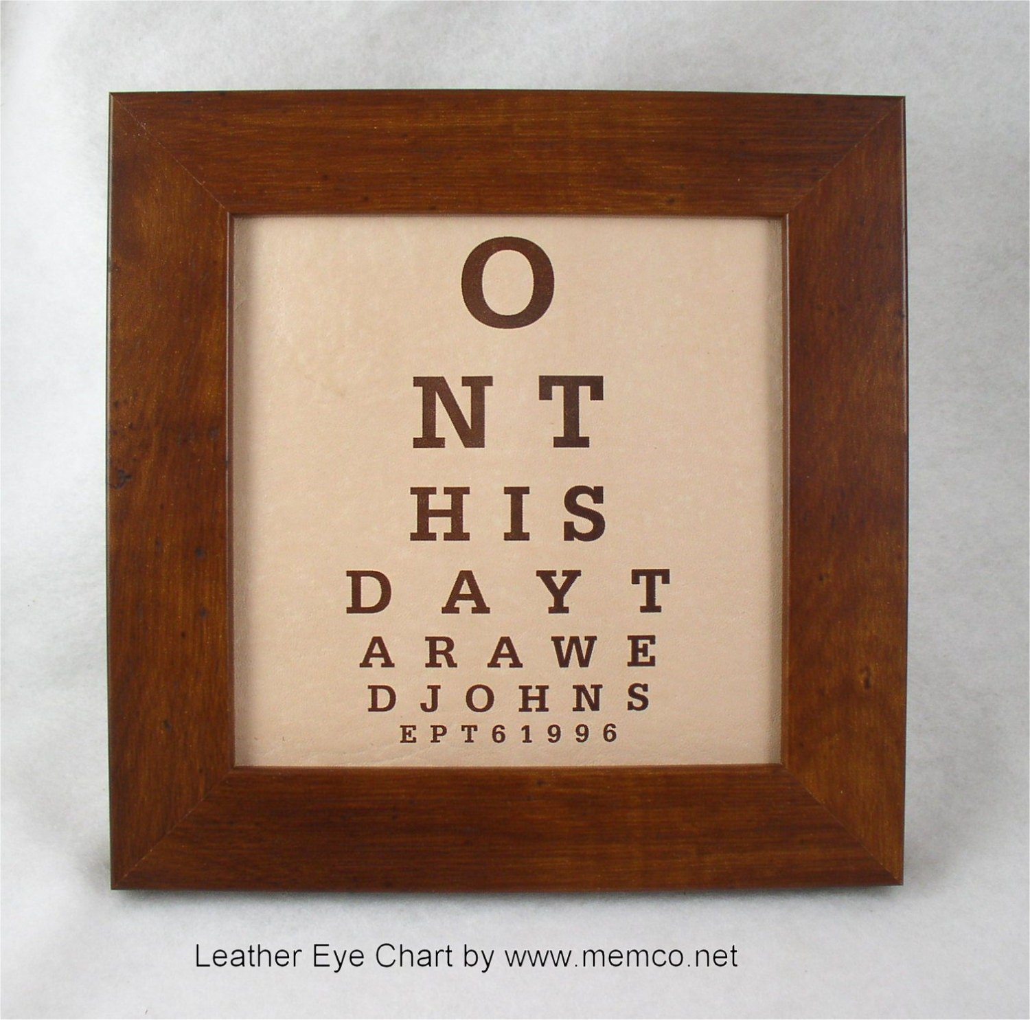Wedding Anniversary Gifts By Year Chart: Leather Anniversary Wedding Sign Leather Wedding Eye Chart