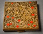 Vintage brass powder case