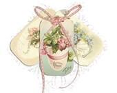 HOLIDAYS SALE Printable Easter Labels, Notes, Scrapbook Journal Cards - Set 14