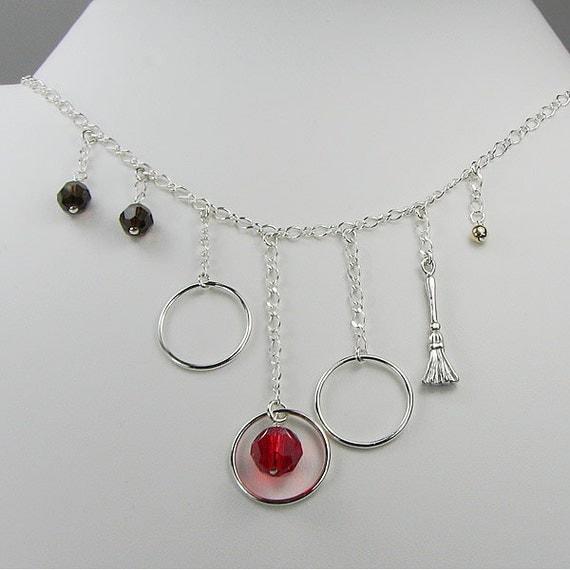 Harry Potter Quidditch Swarovski Crystal Sterling Silver Necklace