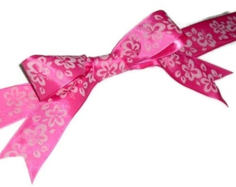 Pink with Pink Flowers Ribbon