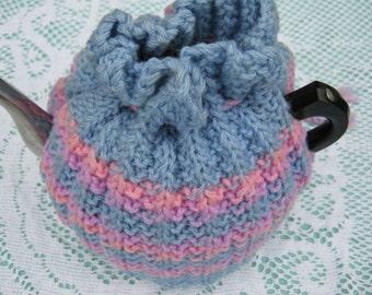 Vintage Tea Cozy - Stripes Grey, Pink, Mauve  Tea Cosy/Cozy Vintage Style for your teapot.