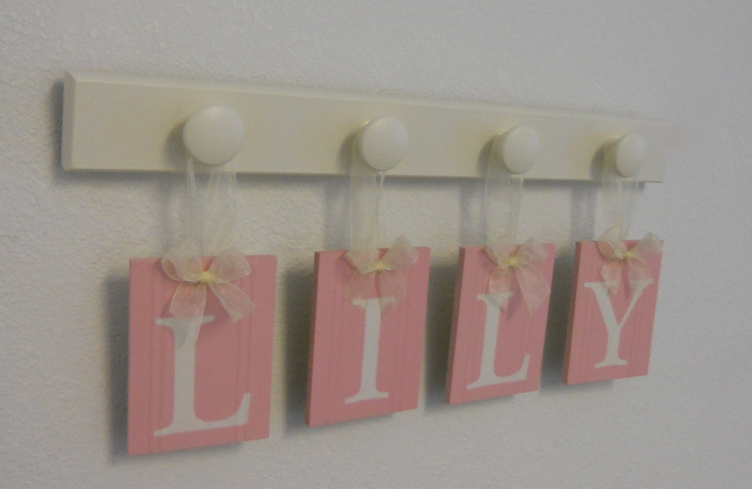 Nursery Wall Hanging Baby Letters On Wall For LILY In Pastel