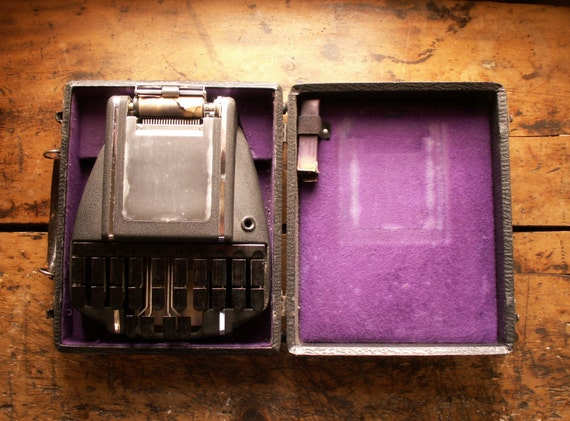 Vintage Stenograph - Stenography Machine in Original Case from the Hedman Company