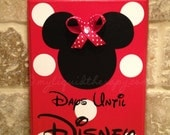 Minnie with Bow Disney World Disneyland Vacation Chalkboard Countdown Calendar (Made to Order)