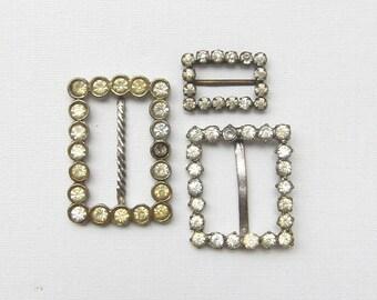 Vintage rhinestone belt buckles jewelry supplies accessories